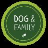Dog and family logo